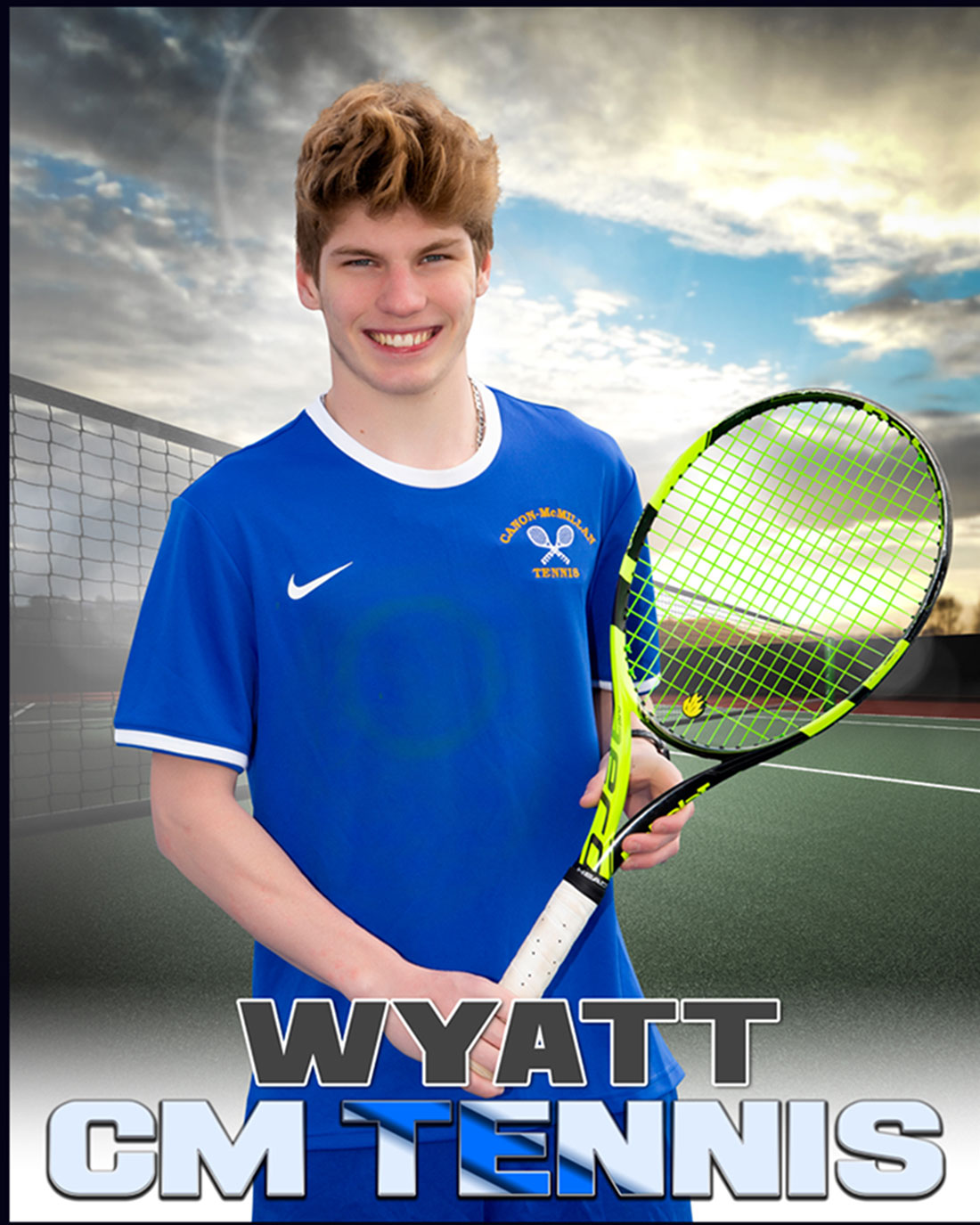 Picture of a tennis player featuring a Knock Out background